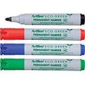 (Shachihata Artline Eco-Green Permanent Marker, Blue, Sold Individually, 2mm, 47062)