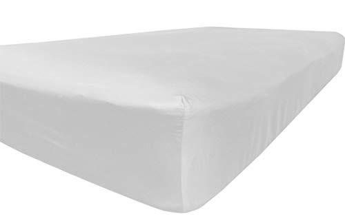 California King Deep Fitted Sheet - American Pillowcase Deep Pocket Fitted Sheet, 100% Percale Egyptian Cotton, 400 Thread Count, California King, White
