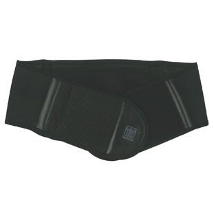 Nikken KenkoTherm Orthopedic Back Belt - Adjustable Therapy Posture Corrector | Lower Back Belt, Pain Relief | Best Support for Lifting, Work, Gym, Posture with Pocket, Black, X-Large up to 46 cm