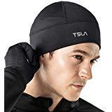 TSLA Skull Cap Thermal Fleece Line Active Beanie Helmet Liner Unisex YZC01