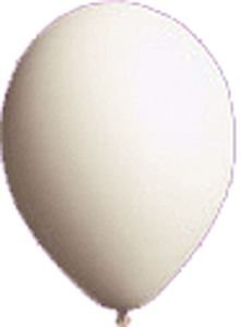 Single Source Party Supplies - 17'' Seal-Sealing Valved White Latex Outdoor Balloon by Single Source Party Supplies