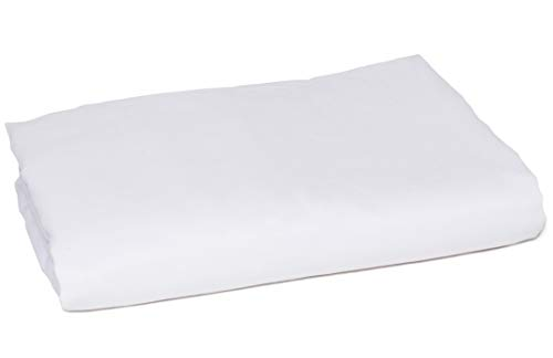 Oversized Flat Sheet - American Pillowcase King Size Flat Sheet Only - 300 Thread Count 100% Egyptian Cotton - Fitted Sheets Sold Separately for Set Guarantee (King/California King, White)