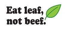 Top Selling Decals - Prices Reduced : Eat Leaf Not Beef – Vegan Vegitarian Healthy Kitchen Home Decor Picture Art Size : 12 Inches X 12 Inches - Vinyl Wall Sticker - 22 Colors Available -  Design With Vinyl Decals, HI Decal 1 V50 - Black 2