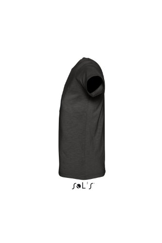 Sols - First - Herren Slub Jersey T-Shirt , Black , M