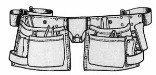 Custom Leathercraft I427X Heavy Duty Suede Work Apron, 12-Pocket