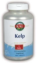 KAL 225 Mcg Kelp Iodine Tablets, 500 Count