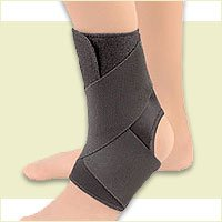 BSN Medical Ez-on Wrap-around Ankle Support Sm Black (3 Extra Large Black) by FLA (Image #1)