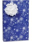 SNOWY NIGHT SNOWFLAKE Christmas Holiday Gift Wrap Paper - 16 Foot Roll
