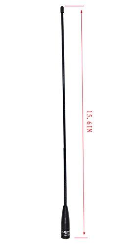 [해외]SPFQ 원래 나고야 NA-771 SMA 여성 듀얼 밴드 채찍 안테나 BaoFeng UV-5R UV-82 GT-3 및 Kenwood Wouxun Radio [15.6In] 용 VHF UHF (144 430Mhz)/SPPQ Original Nagoya NA-771 SMA Female Dual Band Whip Antenna VHF UHF (144 430Mhz) For BaoFeng...