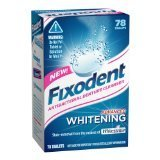 Fixodent Denture Cleanser Advanced Whitening Tablets, 78-count (Pack of 2)