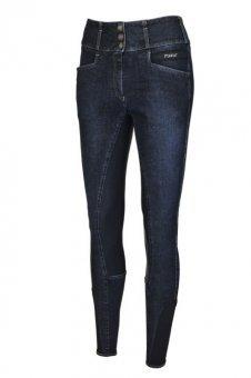 Pikeur hípica para Mujer Candela Jeans Grip, Light Grey, 46