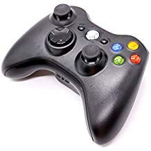 (HUELE Wireless Controller Compatible with Xbox 360 - Black)
