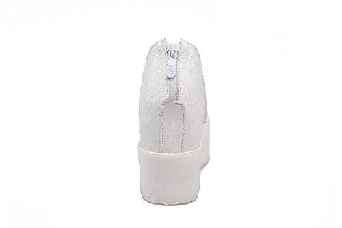 Valkoinen Agoolar Pu Naisten Vetoketju Korkokengät Peep Sandaalit Toe 0q60g