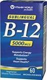 Cheap Vitamin World Vitamin B-12 5000 mcg. Sublingual 60 Microlozenges