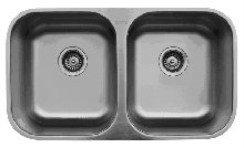 Stainless Steel Sinks, U5050 Series Undermount Kitchen Sink, Double Equal Bowls by handyct