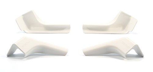 Camco 42462 Gutter Spout Wide/Long White 4 Pack
