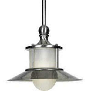 Quoizel Lighting NA1510BN New England - One Light Mini Pendant, Brushed Nickel Finish with Acid Etched ()