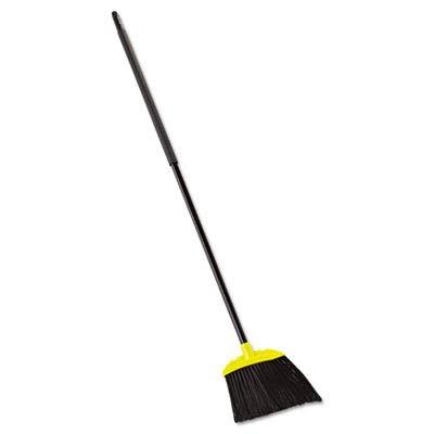 Rubbermaid Commercial 638906BLACT Jumbo Smooth Sweep Angled Broom, 46'' Handle, Black/Yellow (Case of 6)