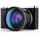 4.0 Inch Touch Screen Digital Camera, GordVE 24.0MP HD 1080p Wide Angle Anti Shake 12X Digital Zoom Vlogging Camera Camcorder
