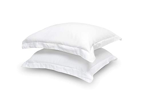 100% Egyptian Cotton Hotel Quality 2 Piece Pillow Shams 600 Thread Count Dust Mite Resistant Solid Pattern (Standard 20