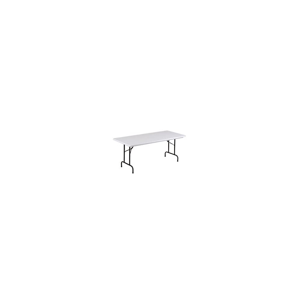 Blow Molded Commercial Duty Folding Table 30 X 96, Gray Granite