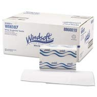 Windsoft Embossed Singlefold Paper Towels, One-Ply, 9 9/20 x 9, White, 250/Pack - WIN107