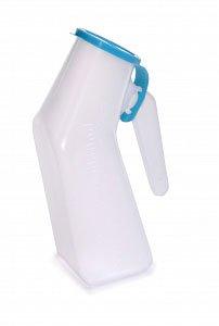 SPECIAL PACK OF 3-Male Urinal Translucent Reusable Autoclavable Blue Cap