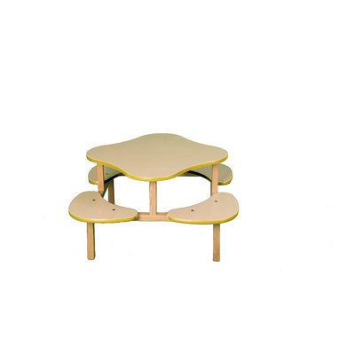 Maple Desk Country (Play Table in Maple Trim Color: Yellow)