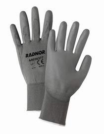 Radnor X-Large 13 Gauge Polyurethane Palm Coated Work Gloves with Nylon Liner and Knit Wrist 12 Pair/Dozen (10 Dozens)