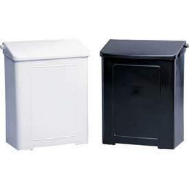 Impact Safe-Use Plastic Sanitary Napkin Receptacle - White, 1102 - Pkg Qty 8(1102)