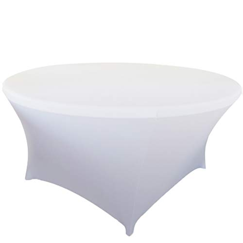 """TRLYC Wedding Table Covers 72"""" Spandex Lycra Fabric Table Co"""