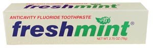 New World Imports TP275 Freshmint Anticavity Fluoride Toothpaste, 2.75 oz, Individually Boxed (Pack of 144) by New World Imports