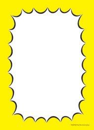 Burst Design - T50BUR Blank Burst Border Yellow - Slotted Sale Tags - 5