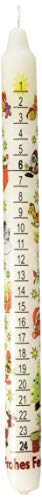 German Countdown Tradition Winter White 12 inch Wax Christmas Advent Candle