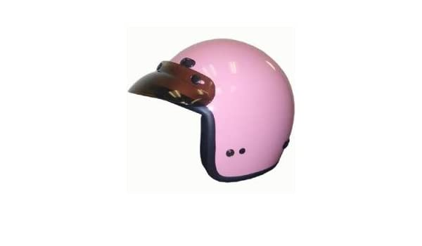 Amazon Com Dot Women S Pink 3 4 Three Quarter Open Face Motorcycle