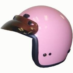 DOT Women's Pink 3/4 Three Quarter Open Face Motorcycle Helmet with Visor (Size S, SM, Small) -