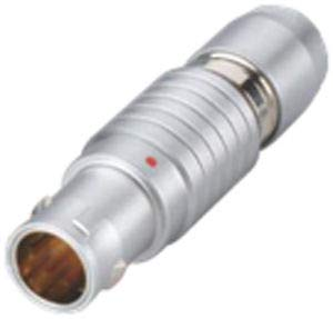 MilSpecWest PSG.00.304.CLAD30Z Compatible LEMO FGG.00.304.CLAD30Z Circular Push Pull Connector Straight Plug Key (G) Cable Collet 00 Series Multipole Male Solder Contacts Metal Housing PEEK Insulator