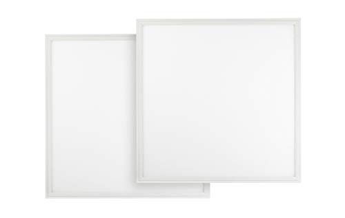 Lit Glass Panel - 2-Pack ASD 2x2 LED Panel 27W Dimmable Edge-Lit Flat 3500K (Warm White) Dimmable Commercial Grade UL, DLC Listed