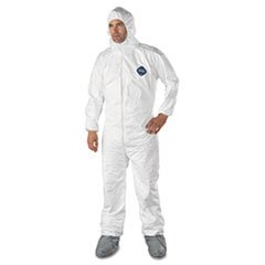 DuPont 251-TY122S-3XL Tyvek Elastic-Cuff Hooded Coveralls W/boots, White, 3x-Large, 25/carton by DuPont