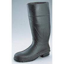 Boot Knee Black Economy (Boots 16In Economy Knee Pvc Black Steel Toe 6)