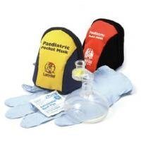 Laerdal Pediatric Pocket Mask w/Gloves & Wipe in Blue/Yellow Soft Pack - 820050 ()