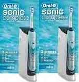 Oral-B Sonic Complete DOUBLE PACK (2 Units) (Braun Double Electric Toothbrush compare prices)