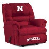 Imperial Officially Licensed NCAA Furniture: Big Daddy Microfiber Rocker Recliner, Nebraska Cornhuskers