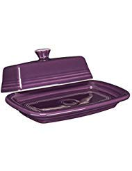 Fiesta X-Large Covered Butter Dish In Mulberry