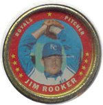 1971 Topps Topps Coins (Baseball) Card# 32 Jim Rooker of the Kansas City Royals NrMt Condition