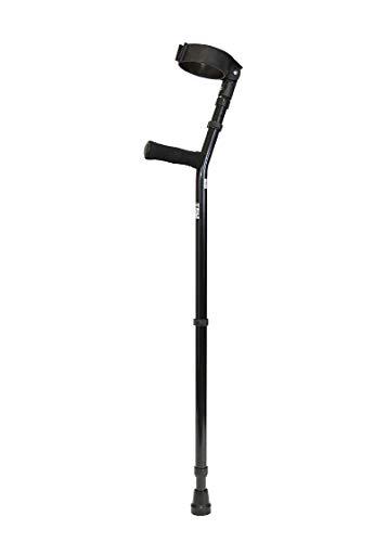 Forearm Crutches - 1 Pair Adult Full Cuff High Weight Capacity Crutch, Bariatric high weight capacity 400 lbs. adult forearm crutches with 4