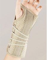 BSN Medical Soft Fit Suede Finish Cock-Up Wrist Brace (Extra Small Left, - Finish Suede Pro