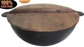 Gardeco Cook-Cauldron Caldero de Hierro Fundido para Uso en Cualquier Fuego, Color Negro
