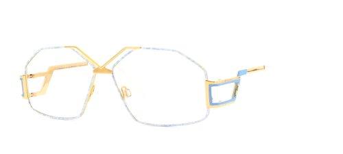 Cazal 234 361 Blue and Gold Authentic Women Vintage Eyeglasses - Vintage Cazal