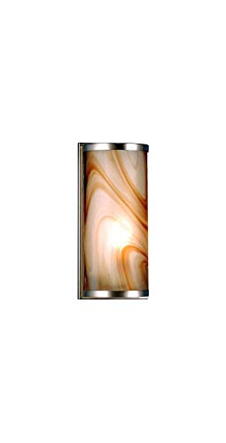 Cylinder Fused Glass Wall Sconce in Nickel from Meyda Tiffany